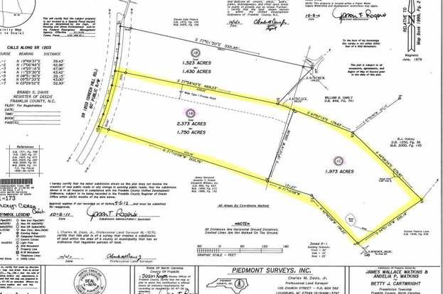 Franklinton Nc Map.744 Green Hill Rd Lot 1a 1c Franklinton Nc 27525 Mls 2234345