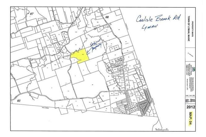 Lyman Maine Map.Map 4 010 A Carlisle Brook Rd Lot 010 A Lyman Me 04002 Mls