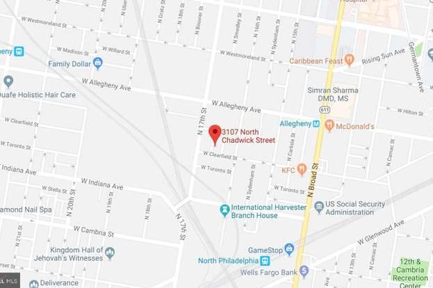 3107 N Chadwick St, Philadelphia, PA 19132 K And A Map Of Germantown Phila on