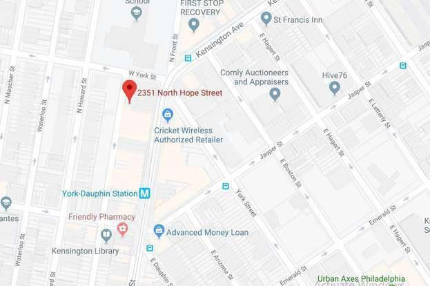 2351 N Hope St, Philadelphia, PA 19133 - 0 bed Kensington Philadelphia Street Map on west kensington philadelphia map, kensington philly, fishtown philadelphia map,