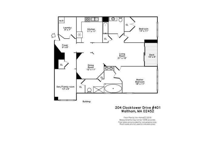 204 Clocktower Dr #401, Waltham, MA 02452 - 2 beds/2 baths