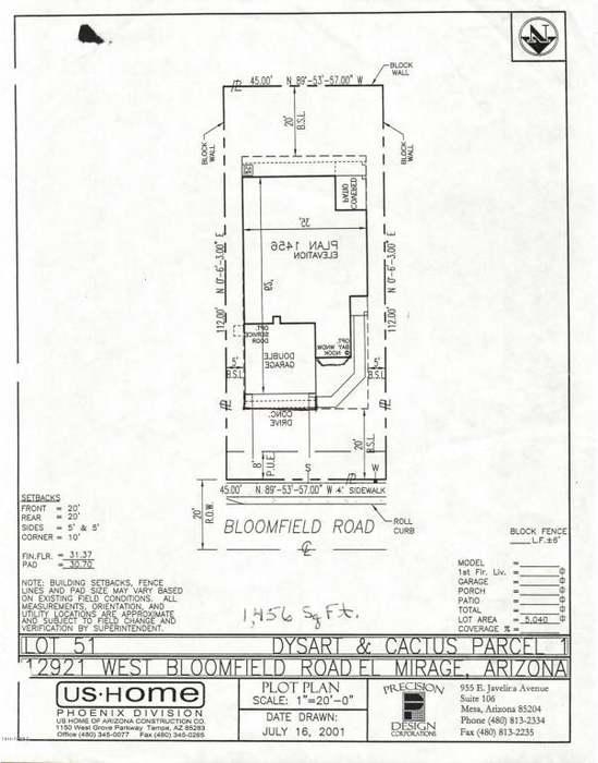 12921 W BLOOMFIELD Rd, El Mirage, AZ 85335 - 3 beds/2 baths