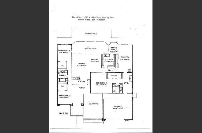 21240 N 134TH Way, Sun City West, AZ 85375 | MLS# 5669925 | Redfin