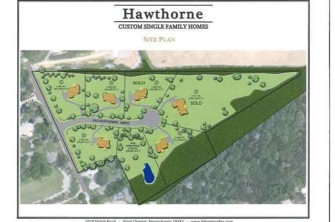 Lot 2 OLD HAWTHORNE Dr WEST CHESTER PA 19382 MLS 6883690 – Rustin Walk Site Plan